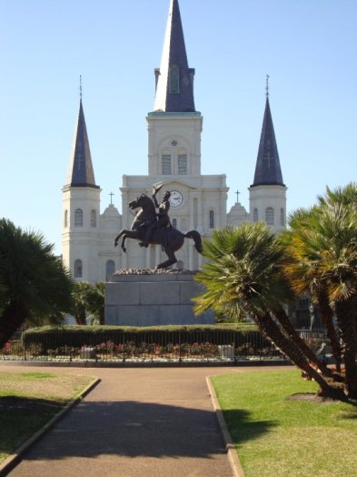 View of St. Louis Cathedral from the square