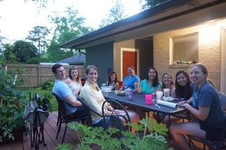Dinner at Donna's Baton Rouge home :)